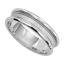 Handsome 6mm Wide Mens Wedding Band by Lieberfarb