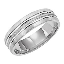 Mens 6mm Comfort Fit Wedding Band by Lieberfarb
