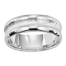 Stunning 7mm Mens Wedding Ring by Lieberfarb