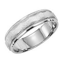 6mm Comfort Fit Mens Wedding Ring by Lieberfarb