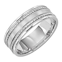Lieberfarb 7mm Mens Comfort Fit Wedding Ring