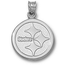 Pittsburgh Steelers Logo Pendant in Silver