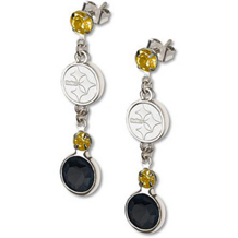 Pittsburgh Steelers Crystal Logo Earrings