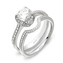 Stunning Simon G. Diamond Bridal Set