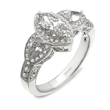 Elegant Marquise Diamond Engagement Ring by Simon G