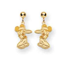 14k Disney Mickey Dangle Post Earrings