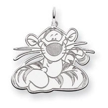 14k White Gold Disney Tigger Charm