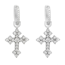 Lovely Simon G. Diamond Cross Earrings