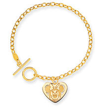 Minnie Mouse 14k Yellow Gold Charm Bracelet
