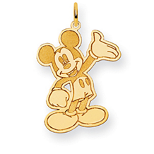 Waving Mickey Mouse Disney Charm