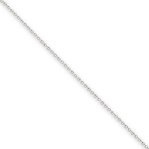 16 Inch .8mm White Gold Cable Chain