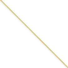 18 Inch .8mm Yellow Gold Cable Chain