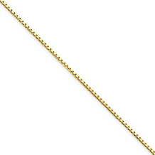 18 Inch 1mm Yellow Gold Box Chain