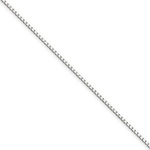 18 Inch 1mm White Gold Box Chain