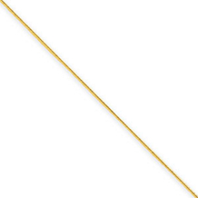 18 Inch 14k Yellow Gold .60mm Round Snake Chain
