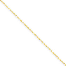 16 Inch 14k Yellow Gold .8mm Lite-Baby Rope Chain