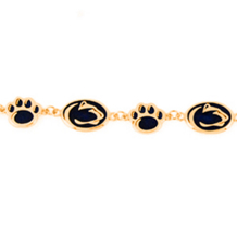 Enameled 14K Yellow Gold Penn State Bracelet