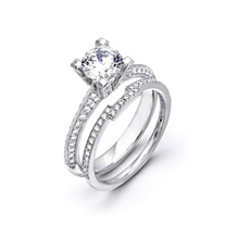 Simon G. Diamond Bridal Set