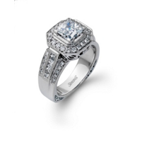 Gorgeous Princess Cut Simon G. Diamond Ring