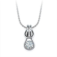 Everlon 1/4 Ct. Diamond Knot Pendant 14k White Gold
