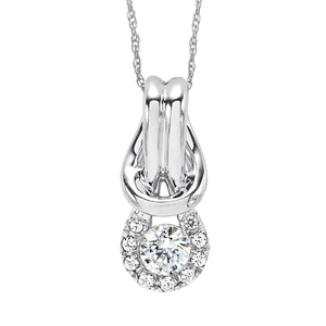 Everlon Sterling Silver Diamond Knot Pendant