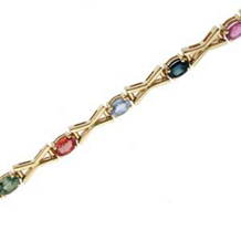 Marvelous Multi-Colored Sapphire Bracelet