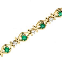 Dazzling Emerald and Diamond Bracelet