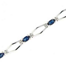 Marvelous Sapphire Bracelet with Diamonds