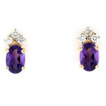 Elegant Amethyst And Diamond Earrings