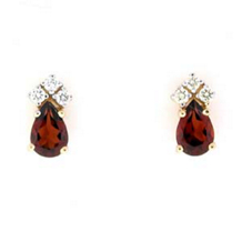 Marvelous Garnet And Diamond Earrings