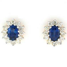 Dazzling Sapphire And Diamond Earrings