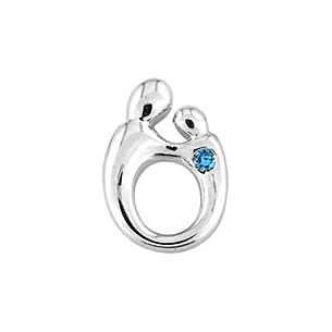 Elegant Mother and Child(R) Sapphire Pendant