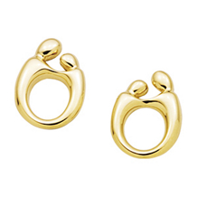 Classic Mother and Child(R) 14k Yellow Gold Earrings