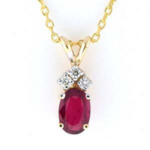 Elegant Ruby And Diamond Pendant