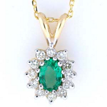 Dazzling Emerald And Diamond Pendant