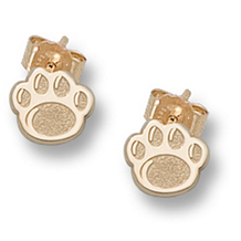 Adorable 14k Gold Penn State Paw Earrings