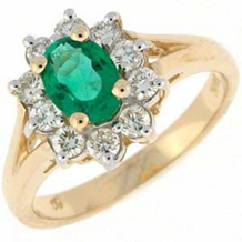 Dazzling Oval Emerald and Diamond Ring