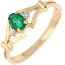 Gorgeous Oval Emerald Ring with Diamonds