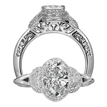 Ritani Masterwork Three Stone Engagement Ring