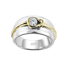 Silver Two-tone Gents Everlon Diamond Knot Ring