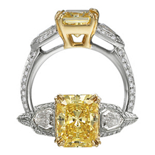 Fancy Yellow Diamond Masterwork Ritani Engagement Ring