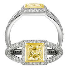 Yellow Diamond Masterwork Collection Engagment Ring