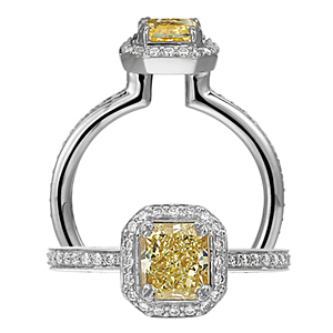 Gorgeous Ritani Masterwork Yellow Diamond Ring