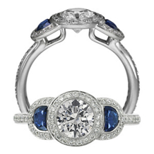Ritani Endless Love Three Stone Engagement Ring