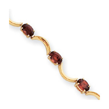 Gorgeous 14k Yellow Gold Garnet Bracelet