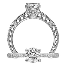 Gorgeous Ritani Anadare Diamond Engagement Ring