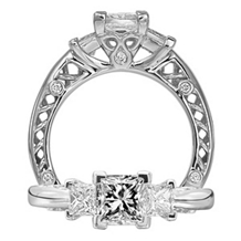 Ritani Three Stone Diamond Engagement Ring