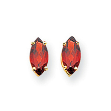 Gorgeous Marquis Garnet Stud Earrings