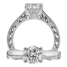 Ritani Diamond Anadare Collection Engagement Ring