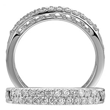 Elegant Anadare Collection Diamond Wedding Band
